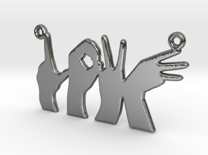 Love Hands pendant 3d printed