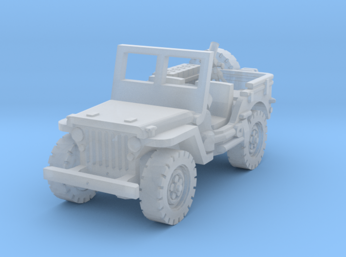 Jeep with Mortar scale 1/87 3d printed