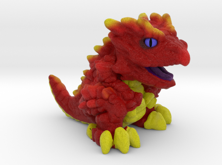 "Chompy the Dragon Hatchling (1"") 3d printed"