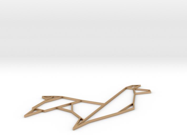 Origami Llama 3d printed