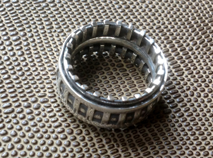 Warp Drive Ring - Size 11 1/2 (20.98 mm) 3d printed