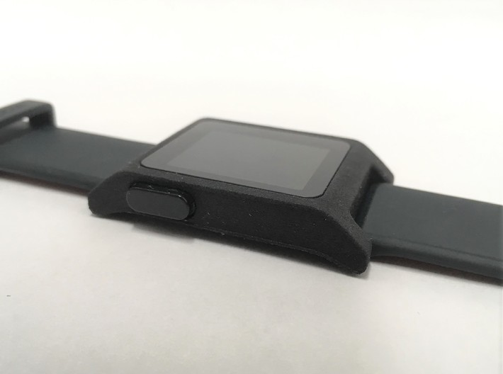 Pebble 2 Smartwatch Replacement Case 3d printed showing fully assembled case (parts not included)