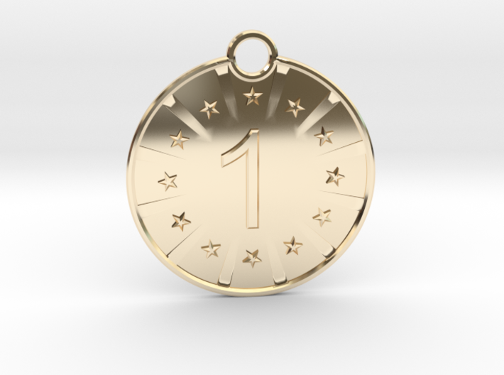 Medaille Gold 3d printed