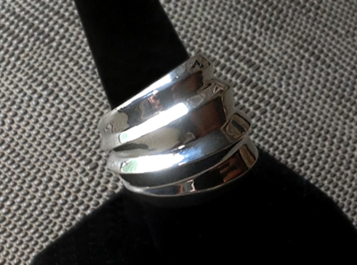 Twisted Ring - Size 9 (18.95 mm) 3d printed