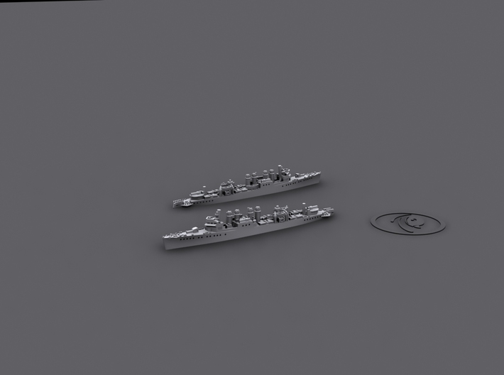 1/1800 Clemson-Wickes Destroyers [US;1941] (x6) 3d printed Computer software render