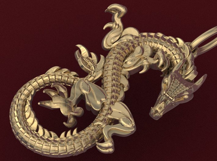 Dragon pendant # 2 3d printed Add a caption...