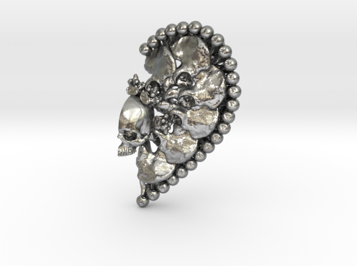 Heart Split Pendant (Right Half) 3d printed