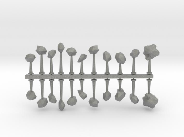 Generic Rock Asteroids sprue 3d printed