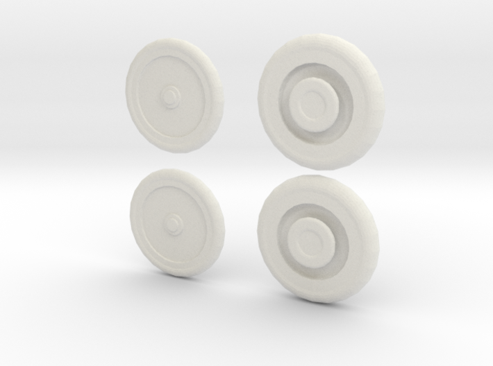 1/48 Scale Model T Armored Car Wheel Set 3d printed