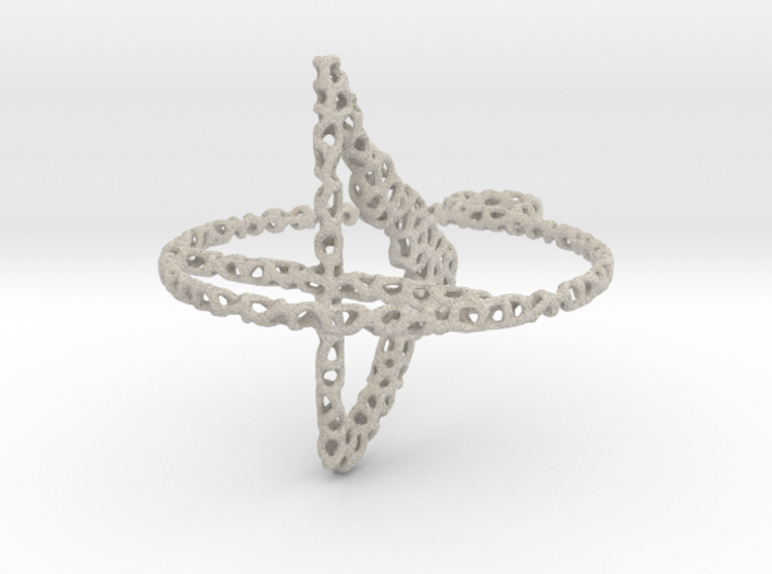 voronoi yoga earring pendant - downward facing dog 3d printed