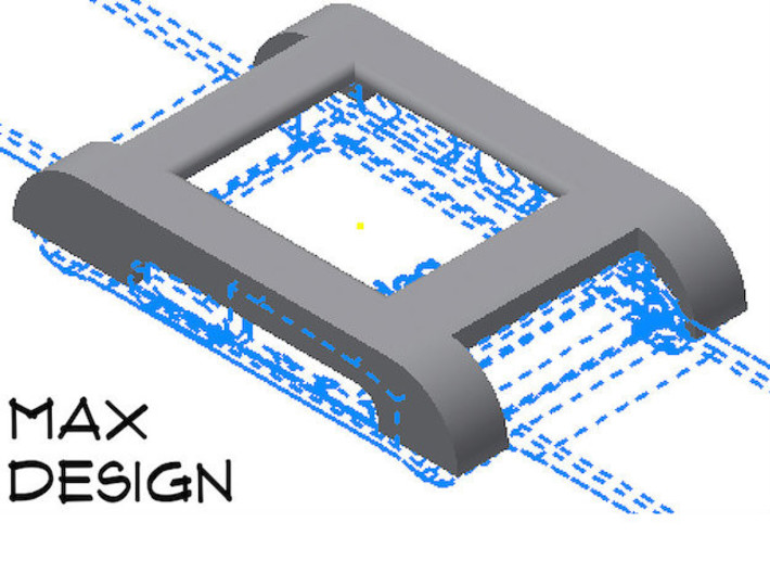 Pebble Watch Cover Max Design 3d printed Note: The Max Design covers the charging port.