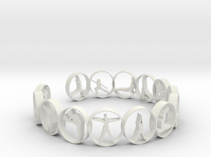 yoga ring 18.11 mm 14 poses 3d printed