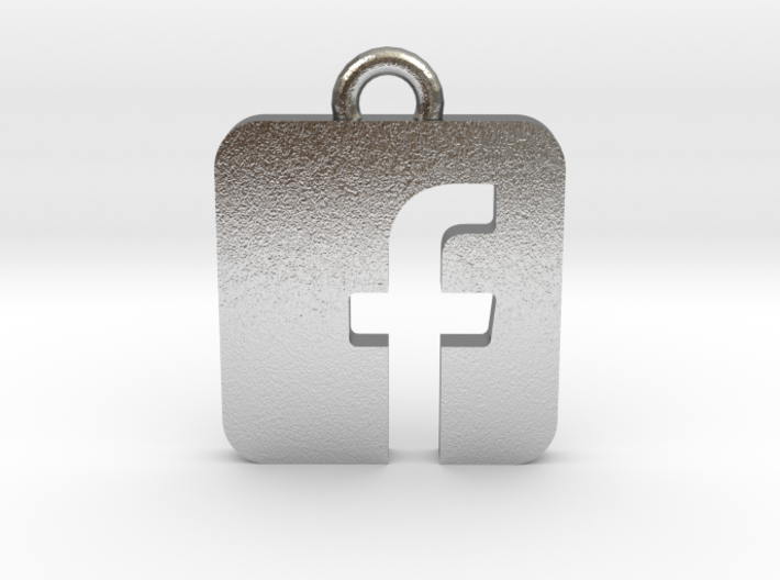 Facebook logo all materials necklace keychain gift 3d printed