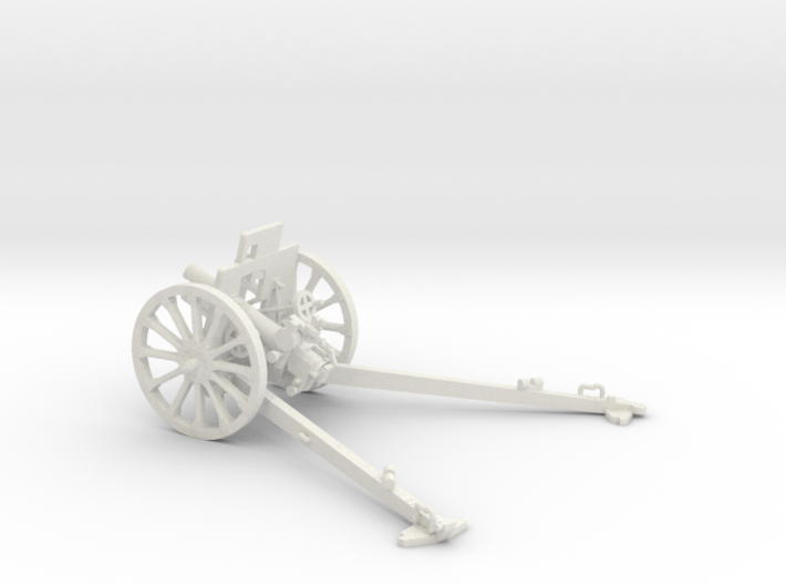 1/30 IJA Type 92 70mm Howitzer with wooden wheels 3d printed