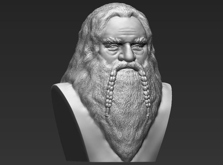 Gimli bust the Lord of the Rings 3d printed