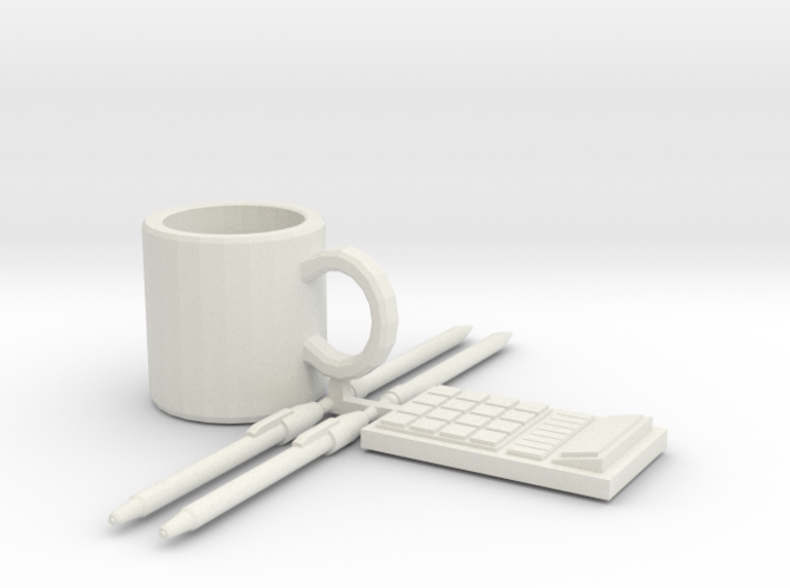 Coffee Mug, and Office Supplies 3d printed