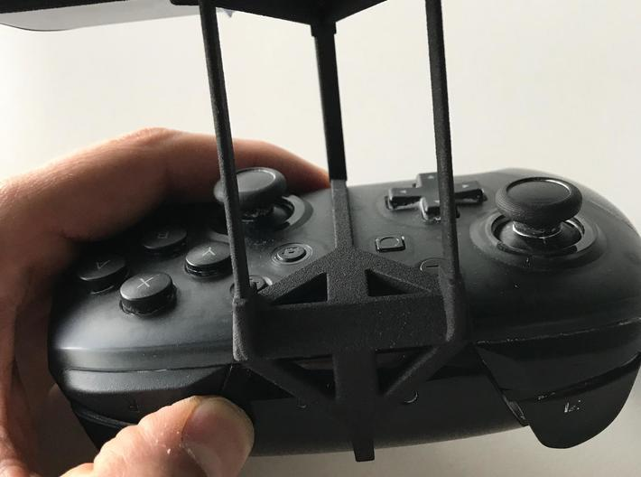 Nintendo Switch Pro controller & LG Q60 - Over the 3d printed Nintendo Switch Pro controller - Over the top - Back View