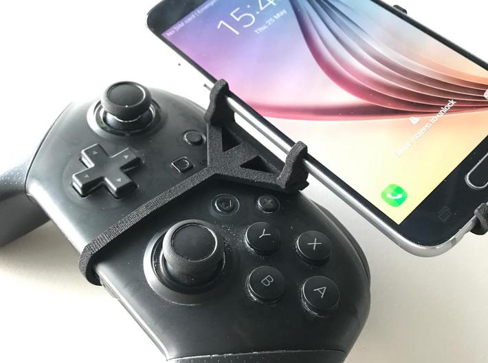 Nintendo Switch Pro controller & LG Q60 - Front Ri 3d printed Nintendo Switch Pro controller - Front Rider - Front View