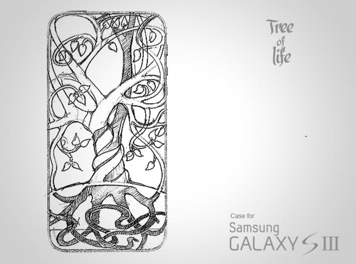 "Samsung - Galaxy S3 ""Tree of life"" Cover Case 3d printed"