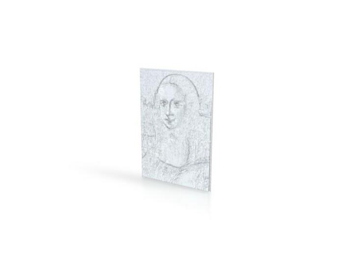 Mona Lisa 3d printed