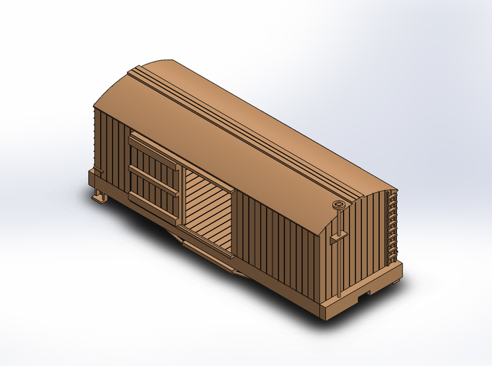 USMRR BOXCAR 3d printed DOORS DO NOT MOVE