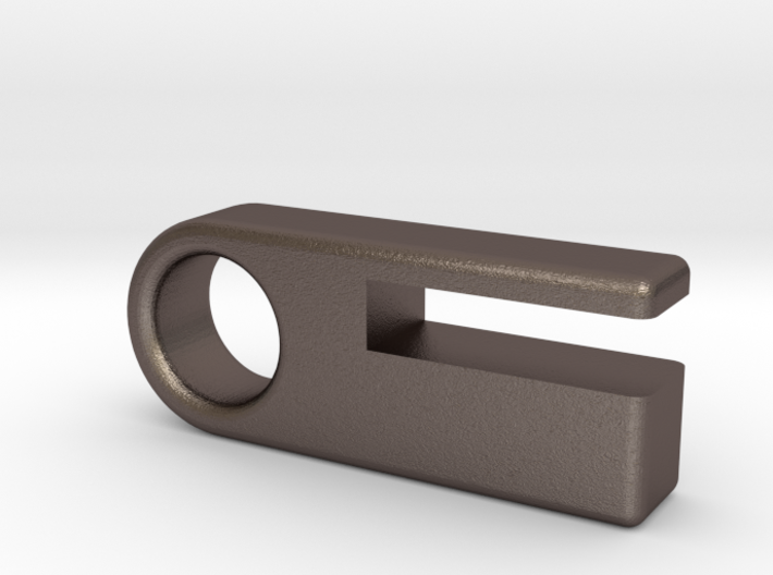 Steel Material Sample Keychain 3d printed