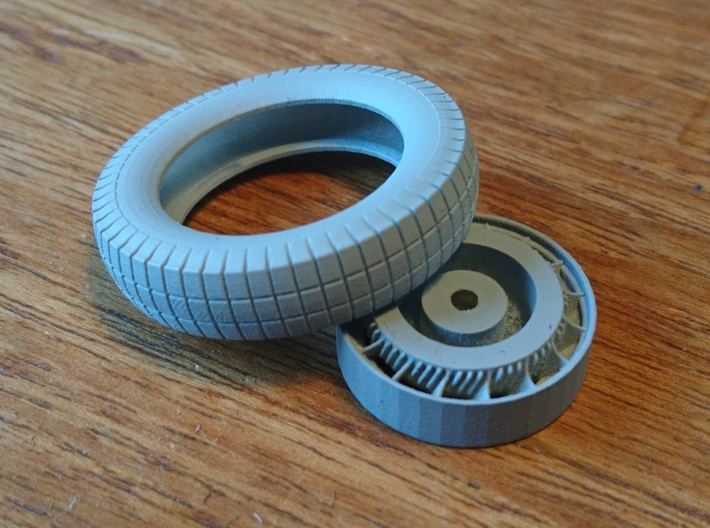 T46 Wheel 3d printed Tires available Separately.