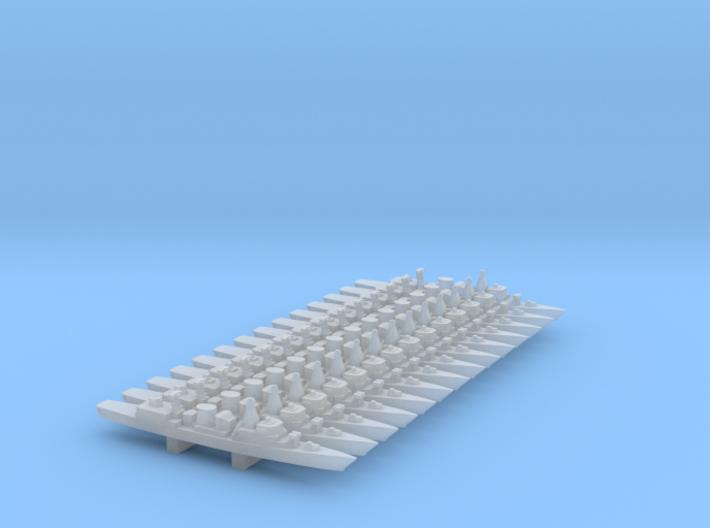 Kortenaer-class frigate x 14, 1/6000 3d printed