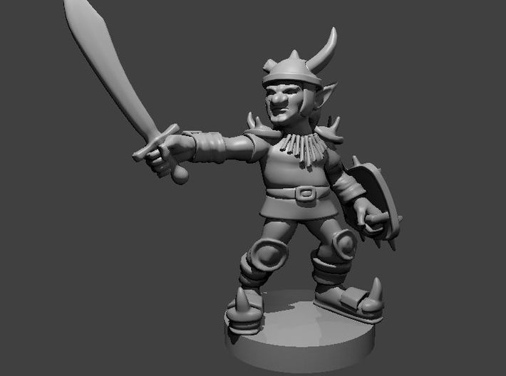 Goblin Chief 3d printed