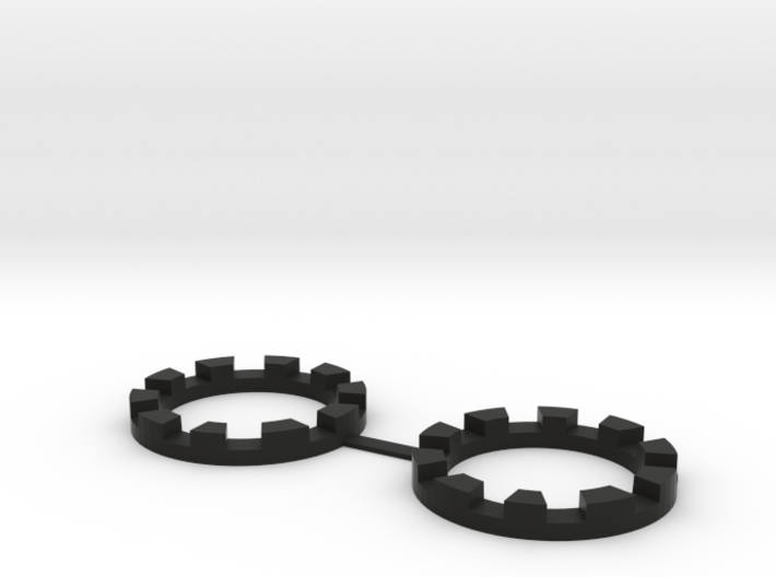 TT-01E Rear Wheel Reinforcement Rings (2pcs) 3d printed