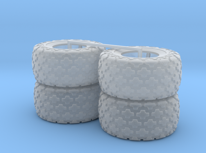 (4) 35.5-32 BUTTON TREAD TIRES ONLY 3d printed