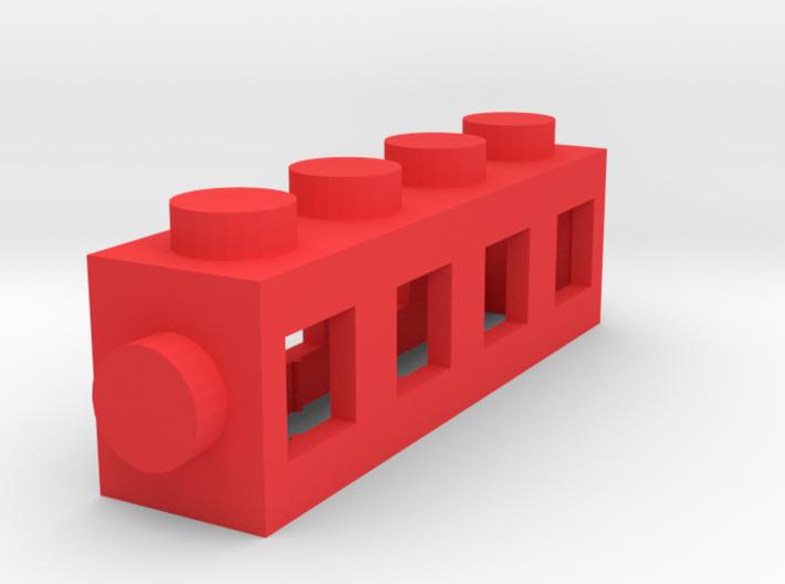 Custom LEGO-inspired brick 4x1 3d printed