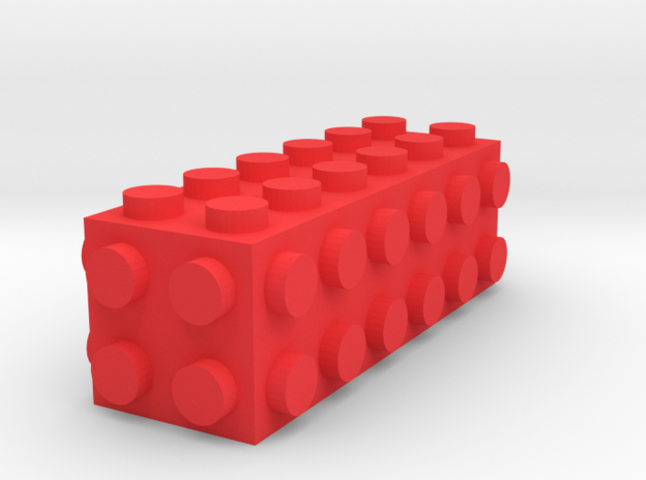 Custom LEGO-inspired brick 6x2x2 3d printed