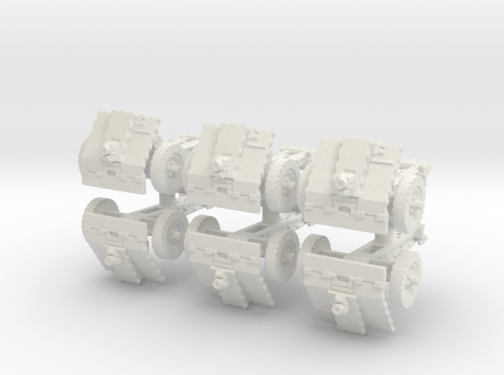 LeIg 18 support gun (6 pieces) 1/100 3d printed