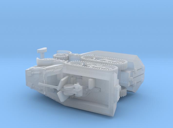 Unic P107 U 304(f) Halftracks 2 1/160 3d printed
