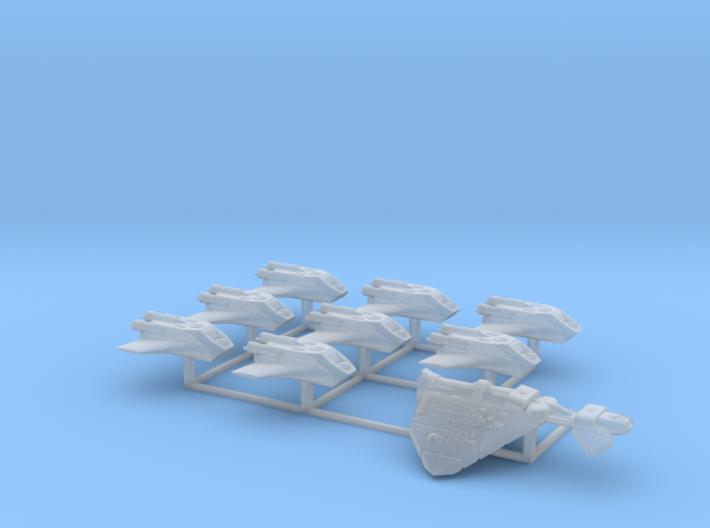 Dorok Zalaster's Pirate Fleet 3d printed