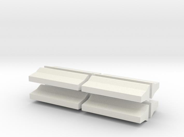 Barrier-FShape-8 3d printed