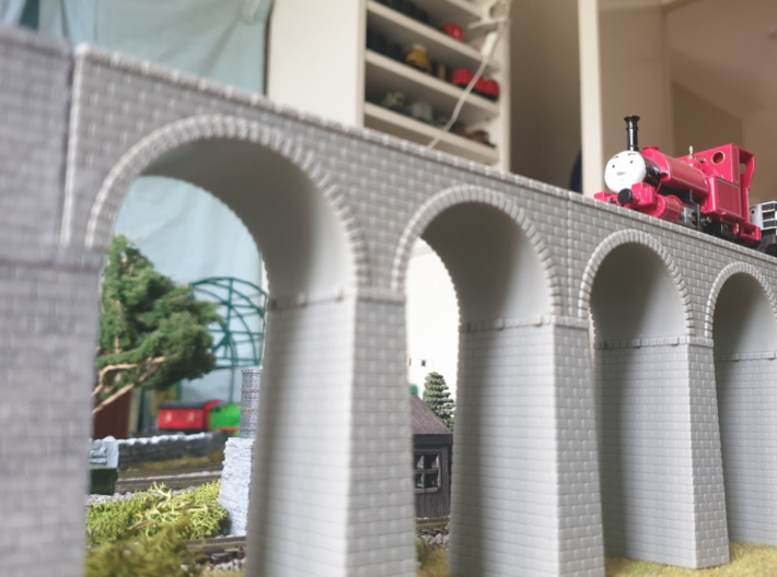 N Atlas Viaduct Straight Walls 3d printed