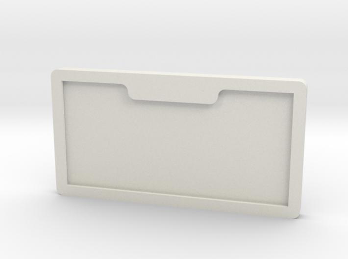 number plate holder 3d printed