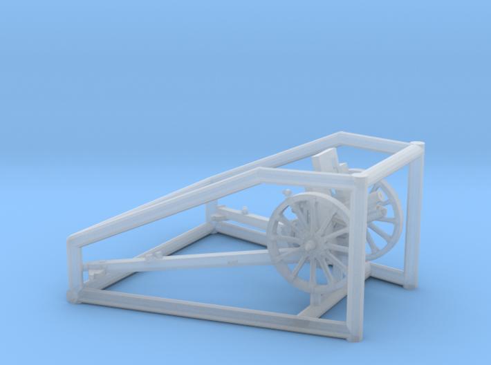 1/72 IJA Type 92 70mm Howitzer with wooden wheels 3d printed
