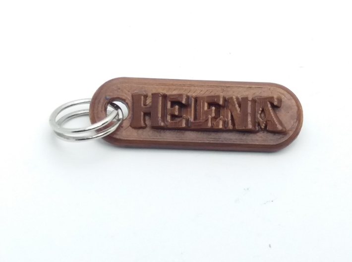 HELENA Personalized keychain embossed letters 3d printed