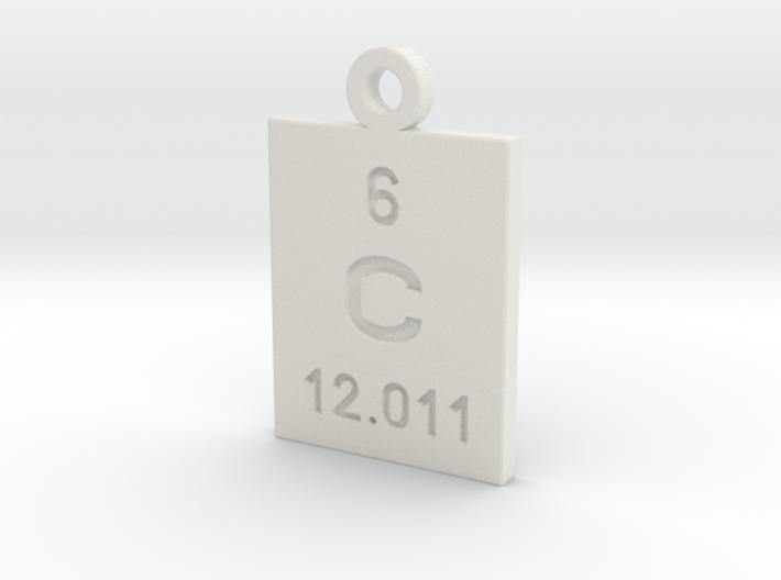 C Periodic Pendant 3d printed
