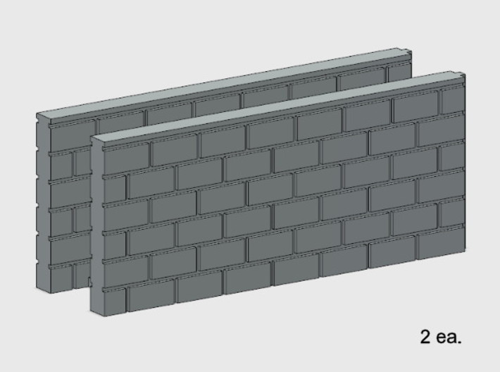 Block Wall - Butt Wall - M2 3d printed Part # BWJ-035