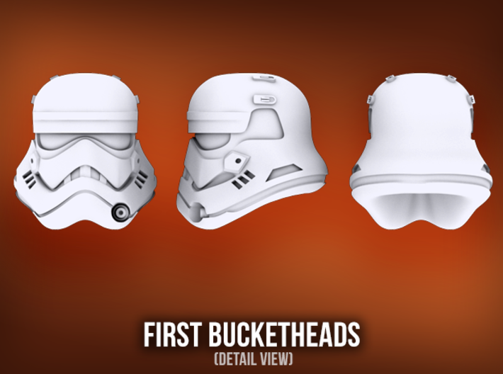 First Bucketheads (x7) 3d printed