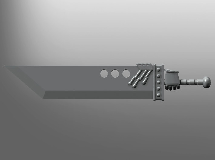 Buster pattern Energy Cleaver (left hand) 3d printed