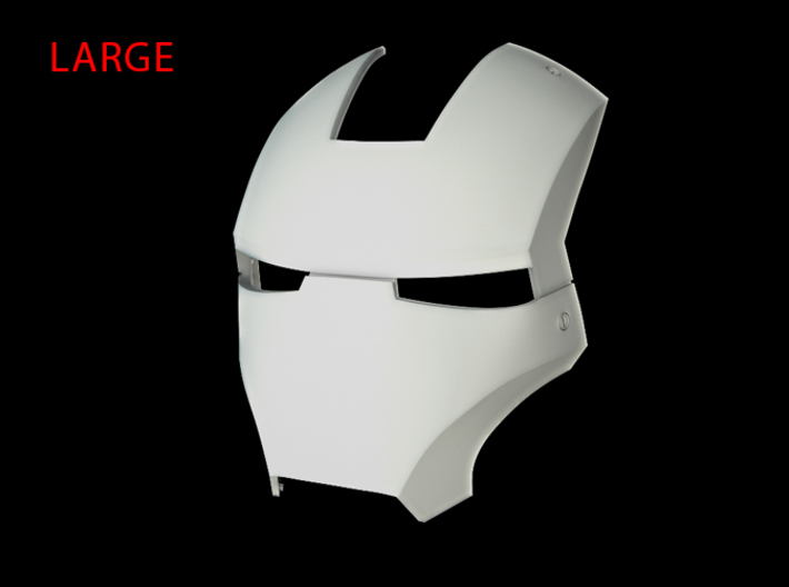 Iron Man Helmet - Face Shield (Large) 3 of 4 3d printed CG Render