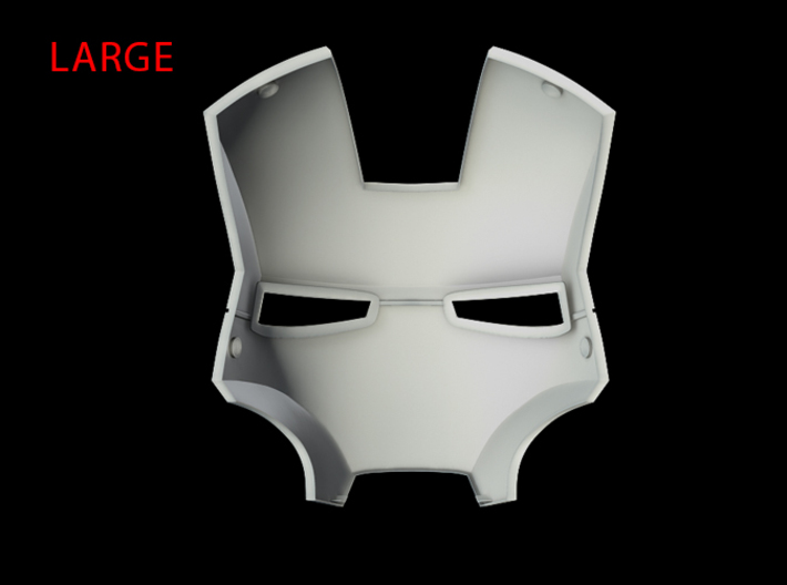 Iron Man Helmet - Face Shield (Large) 3 of 4 3d printed CG Render (Interior)
