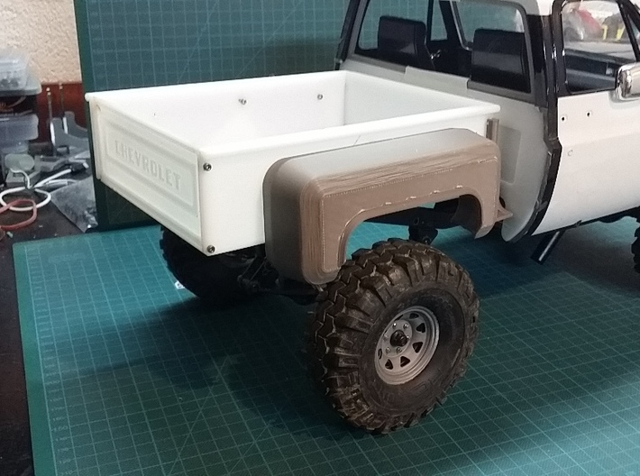 Tailgate for Stepside Bed for RC4WD K5 Blazer Body 3d printed