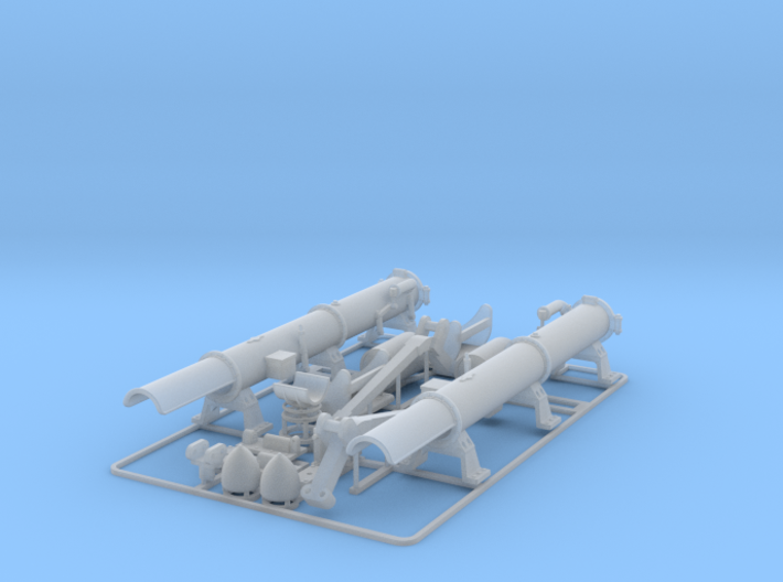 Depth charge and torpedo set 1/48 3d printed