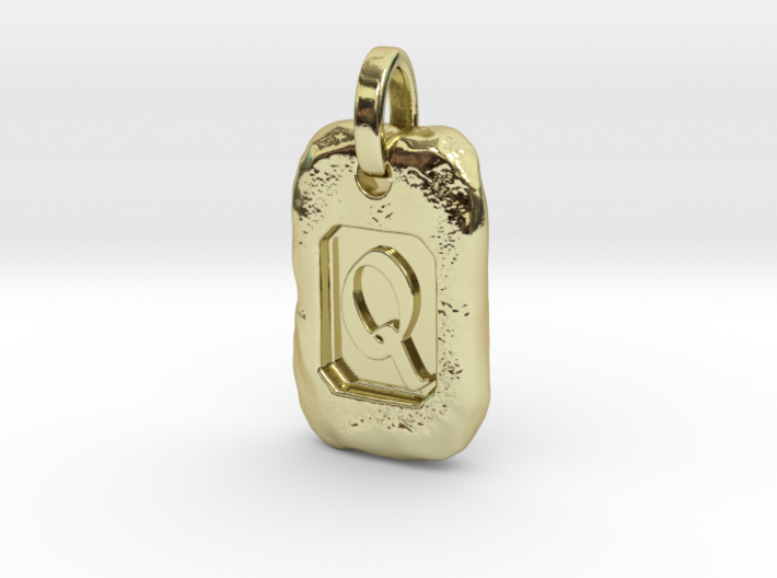 Old Gold Nugget Pendant Q 3d printed